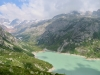 Blick ins Chelenalptal mit Göschenersee:  Hinter Tierberg 3447m, Gwächgtenhorn 3420m