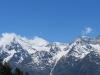 Weisshorn 4506m, Brunegghorn 3833m, Bishorn 4153m, hi Schöllihorn 3500m, Schölligletscher,  Inners- Barrhorn 3583m