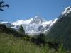 Riedgletscher; Nadelhorn 4327m,Stecknadelhorn 4241m, davor Hohberghorn 4219m, Dürrhorn 4035m