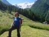 Marianne vor dem Riedgletscher