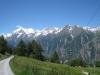 Gondelbahn auf Hannigalp; Weisshorn, davor Brunegghorn, Bishorn,Üssers- Barrhorn