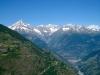 von Hohtschuggen: Bietschhorn, Breitlauihorn, Lötschentaler Breithorn, Gredetschhörnli, Nesthorn, Unterbächhorn, Aletschhorn