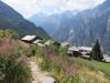 Blick auf Gasenried mit Brunegghorn 3833m, Bishorn 4153m