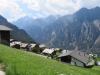 Blick auf Gasenried; Brunegghorn 3833m, Bishorn 4153m, Inners- Barrhorn 3583m, Üssers- Barrhorn 3610m, P. 3248m,  Wasuhorn 3334m