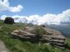 Breithorn  4165m, kl. Matterhorn 3883m, Testa Grigia 3479m, Ob. Theodulgletscher,  kl. Matterhorn 3883m
