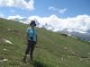 Marianne vor Breithorn 4165m