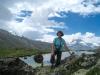 Marianne am Stellisee 2537m mit Matterhorn 4478m