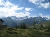 Gabelhorn, Obergabelhorn 4063m, Wellenkuppe 3003m,  Zinalrothorn 4221m,Mettelhorn 3406m,Weisshorn 4505m; un Findeln