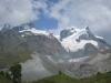 Rimpfischhorn 4199m, Strahlhorn 4190, Adlerhorn 3988m und Findelgletscher