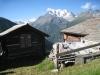 in Oberfinilu: Mittagshorn 3143m, Egginer 3367m, Allalinhorn 4027m und Balfrin 3796m