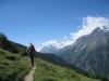 Mittagshorn 3143m, Egginer 3367m und Bafrin 3796m