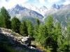 Sicht ins Tal beim Balfrin
