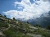 Wolkengebilde über Mittagshorn 3143m, Egginer 3367m, Allalinhorn 4027m, Alphubel 4206m