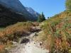 herbstliche Landschaft beim Aufstieg zum Halsensee