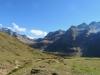 ein Blick zurück ins Tal: Ofenhorn 3235m; Schinhörner