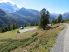 Alp Hanschbiel 2011m; Schwarzhorn 3108m, Fleschhorn 3004m