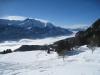 Nebelmeer über dem Thunersee; Scharzhorn 2928m,  Garzen 2710m, Wldgärst 2891m,  Oltschiburg 2234m, Fromberghore 2394m, Niesen 2362m, Augstmatthorn 2137m