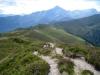Blick vom Tguma 2163m auf Alp Bischola, Beverin und Bruschhorn