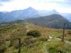 Blick   vom Tguma 2163m  gegen Piz Beverin 2998m, Tarantschun 2769m, Bruschghorn 3056m, davor Lüschgrat 2179m