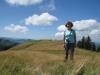 Marianne auf dem Grat der Hochalp 1525m