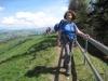 Marianne bald sind wir auf dem Hochhamm  Gipfel 1275m
