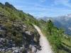 auf dem Höhenweg nach Zinal; Corne de Sorbois 2896m