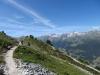 auf dem Höhenweg nach Zinal; re Bec de Bosson