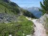 eas geht auf und ab auf dem Höhenweg nach Zinal; re Corne de Sorbois 2896m