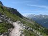 auf dem Höhenweg nach Zinal; re Corne de Sorbois 2896m