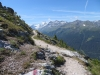 auf dem Höhenweg nach Zinal; Matterhorn 4478m, Pointe de Zinal 3789m, Dent Blanche 4357m, Garde de Bordon 3310m, Corne de Sorbois 2896m