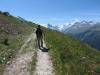 auf dem Höhenweg nach Zinal; le Diablons 3609m, Zinalrothorn 4221m, Besso  3667m  Obergabelhorn 4063m, Matterhorn 4478m, Pointe de Zinal 3789m, Dent Blanche 4357m, Garde de Bordon 3310m