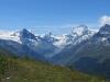 Besso  3667m  Obergabelhorn 4063m, Matterhorn 4478m, Pointe de Zinal 3789m, Dent Blanche 4357m