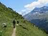 weiter auf dem Höhenweg; Dent Blanche 4357m, Garde de Bordon 3310m