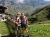 Brigitte und Bruni auf der ob. Bundalp;Zahm Andrist 2681m, Wild Andrist 2849m,  Hundshore 2929m