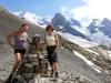 Bruni und Marianne auf dem Hohtürli 2778m; Wyssi Frau; Ufm Stock und Blüemlisalp Rothorn