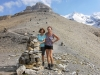 Bruni und Marianne auf dem Hohtürli 2778m; Wilde Frau 3259m, Blüemlisalphornhütte 2840m
