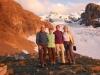 Kandid, Guiliana, Bruni und BIrgitte vor Blüemlisalpgletscher