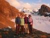 Kandid, Guiliana, Bruni und Marianne vor Blüemlisalpgletscher