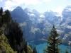 Blick auf den Öschinensee mit: Blüemlisalp Rothorn 3279m, Blüemlisalphorn 3663m,  Oeschinehorn 3486m, Fründenhorn 3369m, Doldenhorn 3638m