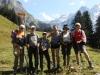 Gruppenfoto vor Absteig nach Kandersteg: Edith, Kandid, Giuliana, Bruni, Marianne und Brigitte