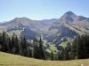 Blick ins Turbachtal zwischen Wistätterhore 2362m und Giferspitz 2542m; hier macht das Turbachtal einen Bogen