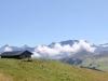 einsamer Stadel; Vordere Lohner 3049m, Altels 3629m, Rinderhorn 3453m, Steghorn 3146m  Grossstrubel 3243m, Wildstrubel  3243m, Gletscherhorn 2943m