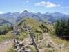 Blick zurück auf den Panoramaweg; Giferspitz 2542m, Wassergrat 1940m, Wispile 1907m