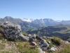 Gsür 2709m, Albristhorn 2763m, Vordere Lohner 3049m, Altels 3629m, Rinderhorn 3453m, Steghorn 3146m,Grossstrubel 3243m, Wildstrubel  3243m,  Plaine morte, Gletscherhorn 2943m