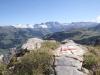prächtige Sicht zu Altels, Rinderhorn, Steghorn, Wildstrubelmassiv, Plaine morte, Gletscherhorn
