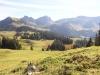 Blick zum Glaubenbielenpass; Alpoglerberg 1842m, Schafnase 2011m, Rossflue 2073m, Chringe
