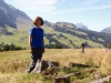 Marianne auf dem Weg von Glaubenbielen nach Sörenberg