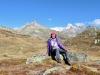 Marianne oberhalb dem Grimselpass mit Hohhoren und Galestock