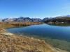 Jostsee 2419m; re Pizzo Gallina 3060m, Mittagshorn 3015m