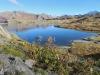 der Totesee im Abendlicht; re Pizzo Gallina 3060m, Mittagshorn 3015m